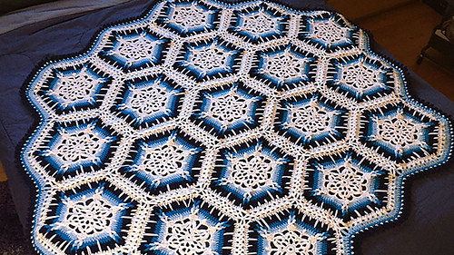 Ravelry Winter Blizzard Afghan pattern by Michael Sellick