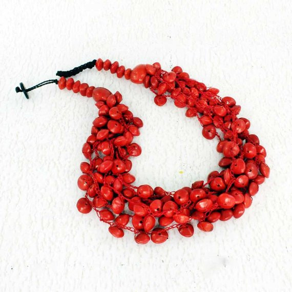 Lovely Red Bead Necklace Crochet Jewelry Eco Friendly Gift Ideas Crochet Bead Necklaces Of Unique 44 Photos Crochet Bead Necklaces