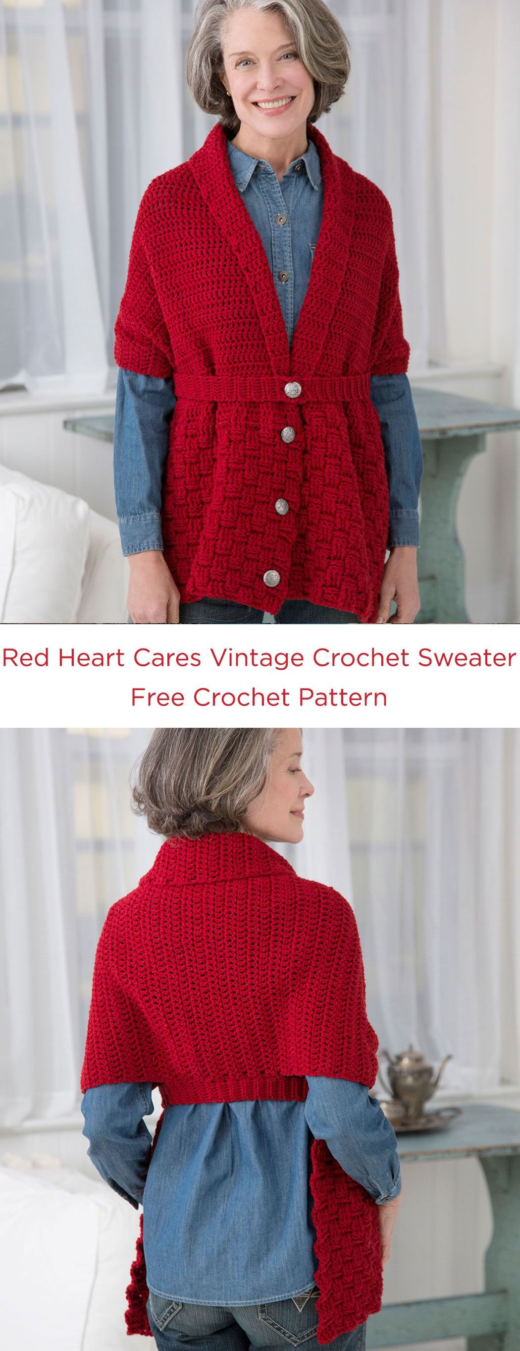 Lovely Red Heart Cares Vintage Crochet Sweater Free Crochet Red Heart Sweater Of Lovely 32 Ideas Red Heart Sweater