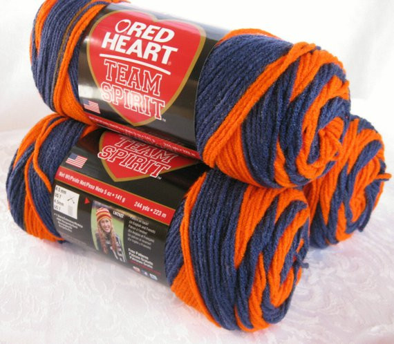 Lovely Red Heart Super Saver Team Spirit Yarn orange Navy by Red Heart Team Spirit Yarn Of Top 46 Pics Red Heart Team Spirit Yarn