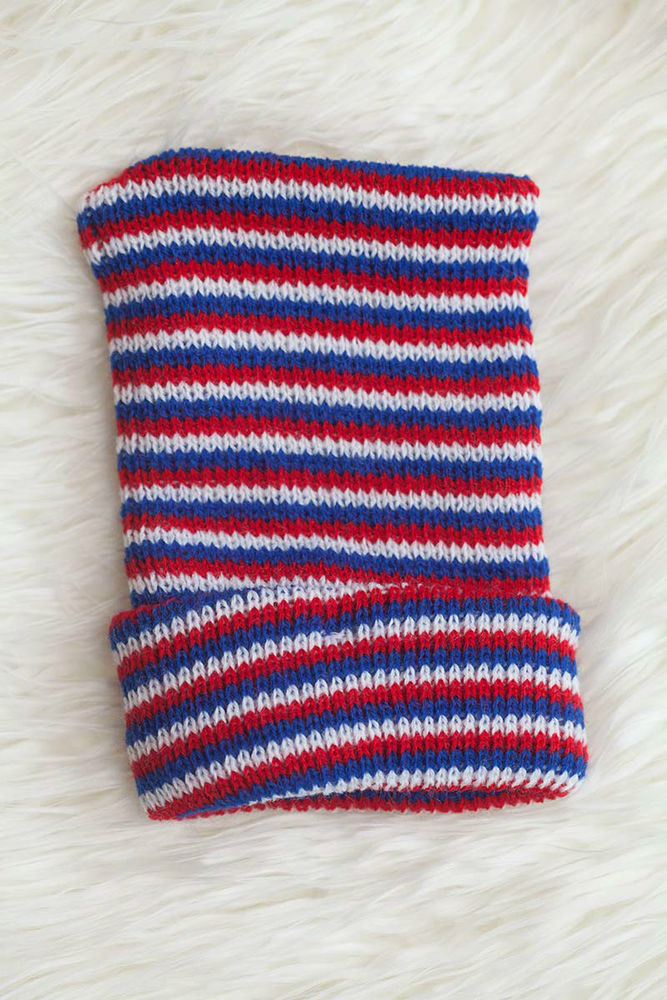Lovely Red White and Blue Striped Knit Boy Newborn Hospital Hat Knitting Baby Hats for Hospitals Of Beautiful 50 Pics Knitting Baby Hats for Hospitals
