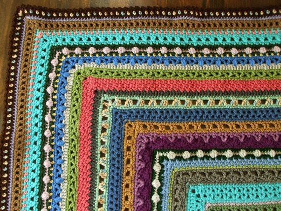 Lovely Reserved for Alison Stitch Sampler Afghan In Scraps Different Crochet Stitches for Blankets Of Innovative 40 Pictures Different Crochet Stitches for Blankets