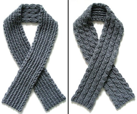 Reversible Cable Scarf PDF Crochet Pattern Instant