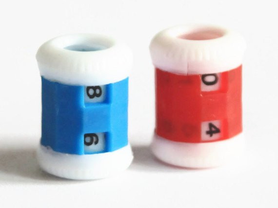 Lovely Row Counter Blue or Red Hand Knitting Plastic Tally Knitting Row Counter Of Marvelous 45 Models Knitting Row Counter