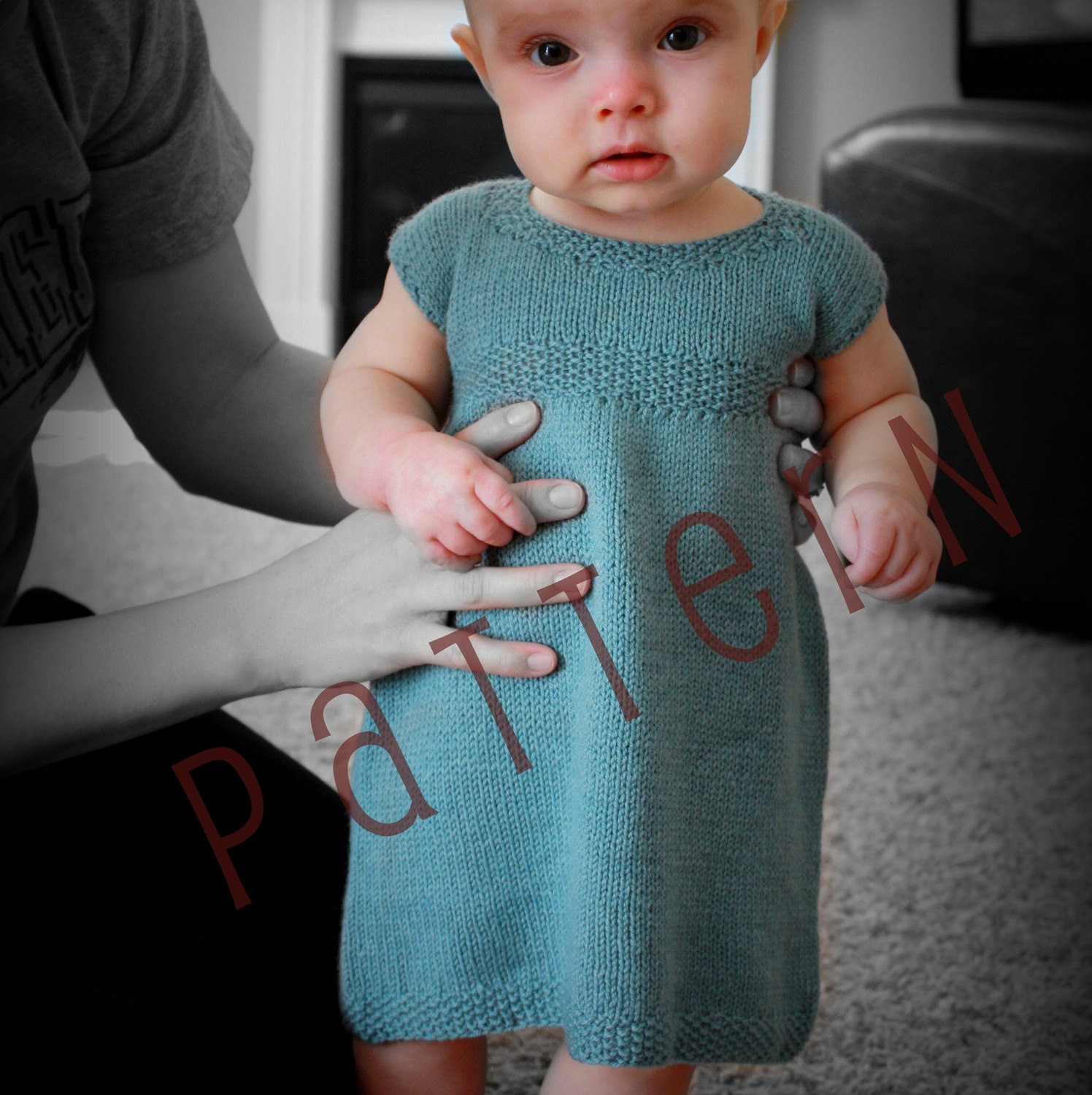 Lovely Sa Baby Dress Pattern Sizes Newborn to 18 Mo Pdf Knitting Knitted Baby Dress Of Brilliant 49 Photos Knitted Baby Dress