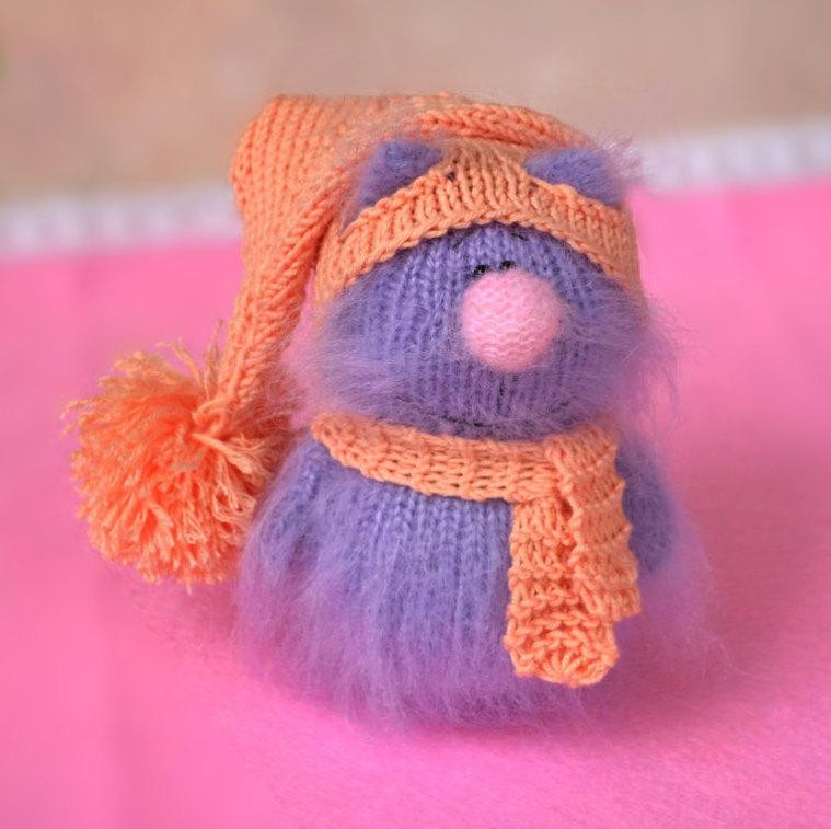 Lovely Sale Purple Cat In Pink Hat Hand Knitted Cat toy Knitted Cat toys Of Fresh 44 Pics Knitted Cat toys