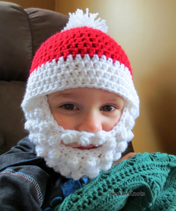 Lovely Santa Beard Hat with Detachable Beard Crochet Santa Bearded Crochet Baby Santa Hat Of Amazing 44 Images Crochet Baby Santa Hat