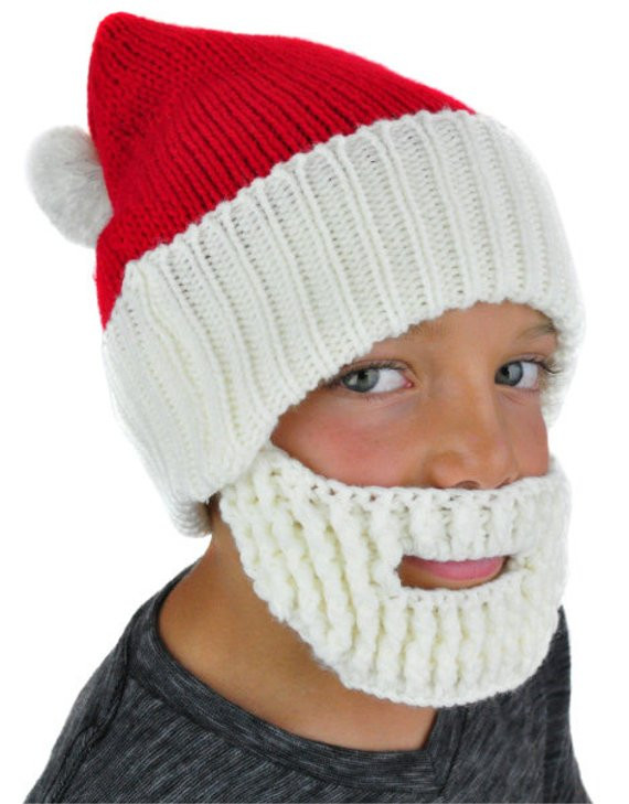 Lovely Santa Hat with Beard Knit Beanie by Neoneaters On Etsy Knitted Santa Hat Of Fresh 50 Photos Knitted Santa Hat