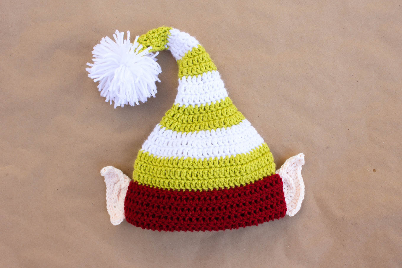 Lovely Santa S Helper Free Crochet Elf Hat Pattern with Ears Free Crochet Beanie Hat Pattern Of Amazing 48 Images Free Crochet Beanie Hat Pattern