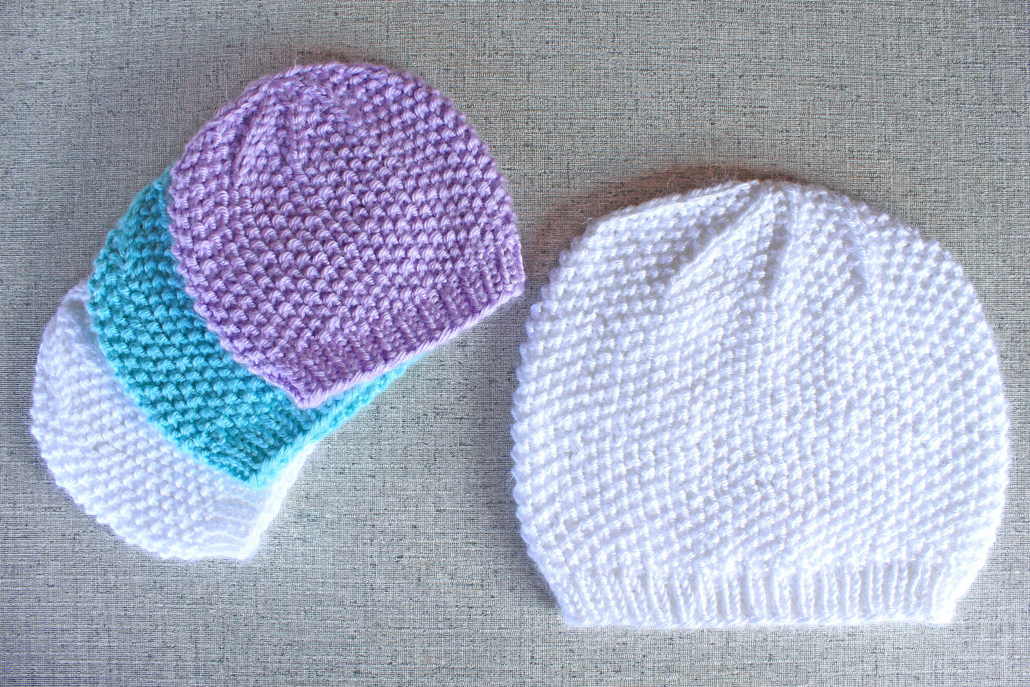 Lovely Seed Stitch Textured Beanie Hat Knitting Pattern Knitted Baby Beanies Of Charming 44 Models Knitted Baby Beanies