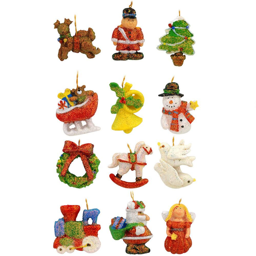 Lovely Set Of 12 Miniature assorted Shapes Resin ornaments Small Christmas Decorations Of Gorgeous 43 Images Small Christmas Decorations