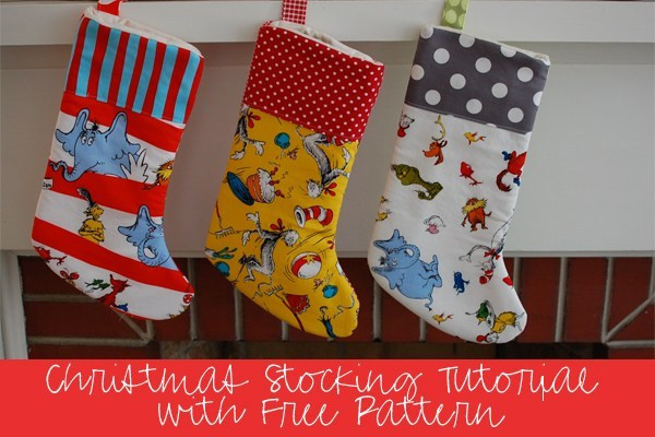 Lovely Sewing Tutorial with Free Pattern Diy Christmas Stockings Christmas Stocking Sewing Pattern Of Marvelous 44 Models Christmas Stocking Sewing Pattern