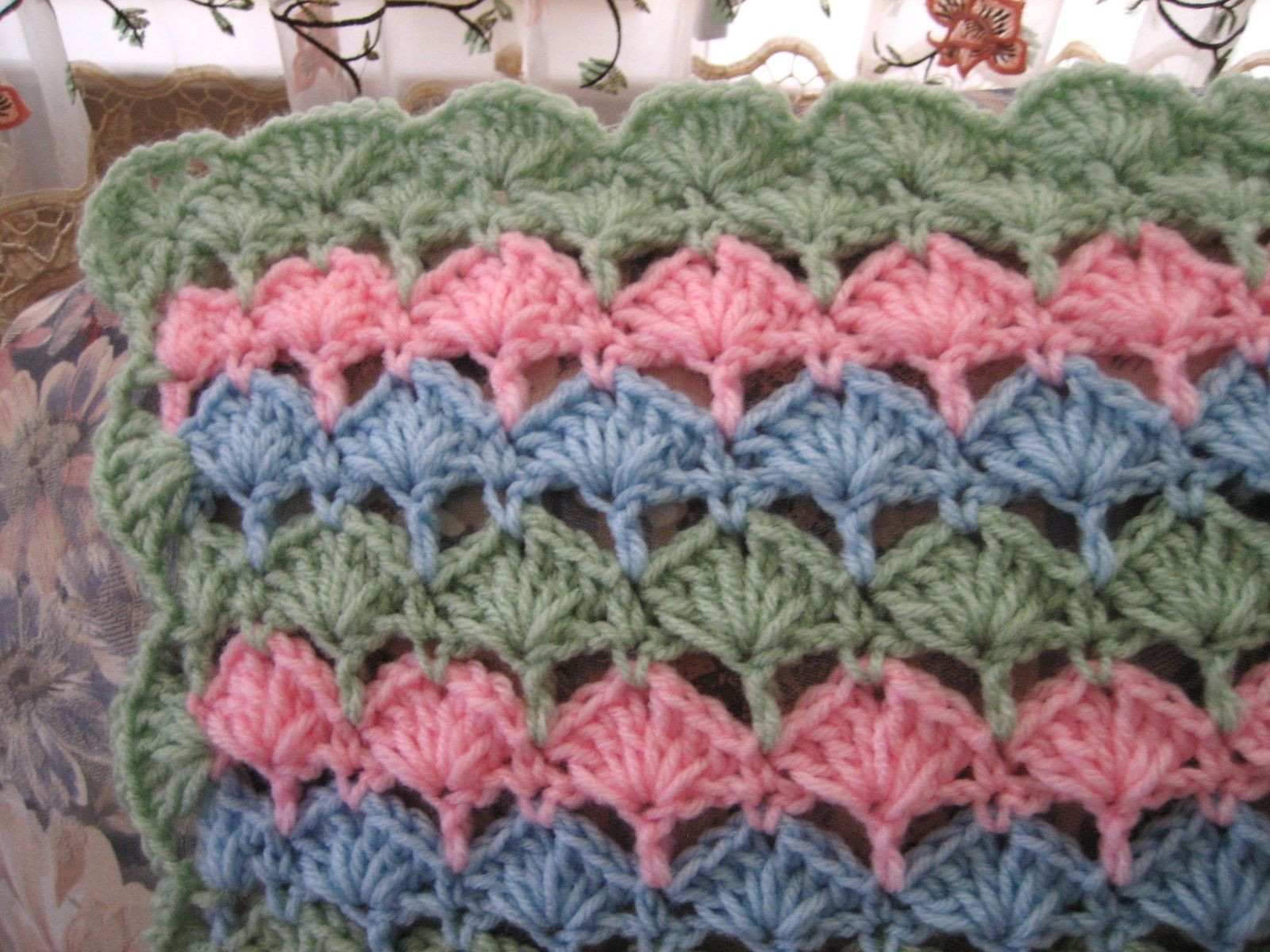 Lovely She Sells Seashells Afghan Shell Stitch Crochet Baby Blanket Of Amazing 49 Pictures Shell Stitch Crochet Baby Blanket