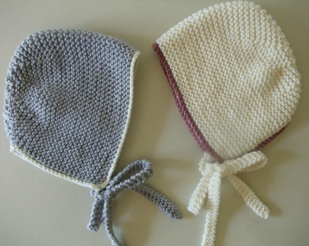 Lovely Simple Baby Bonnet by Buzybee Craftsy Knitted Baby Bonnet Of Top 47 Pics Knitted Baby Bonnet