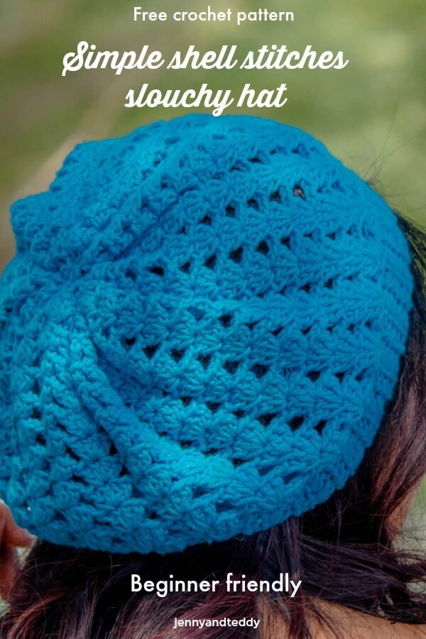 Lovely Simple Shell Stitches Slouchy Hat Free Crochet Pattern Crochet Stitches for Hats Of Lovely 46 Models Crochet Stitches for Hats