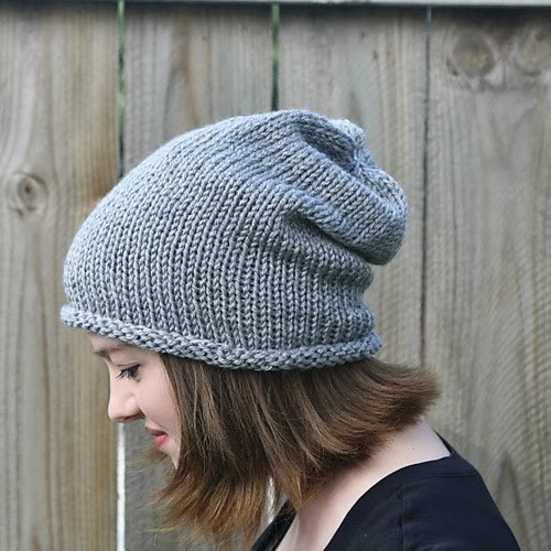 Lovely Simple Slouch Hat Easy Knit Hat Of Brilliant 47 Pictures Easy Knit Hat