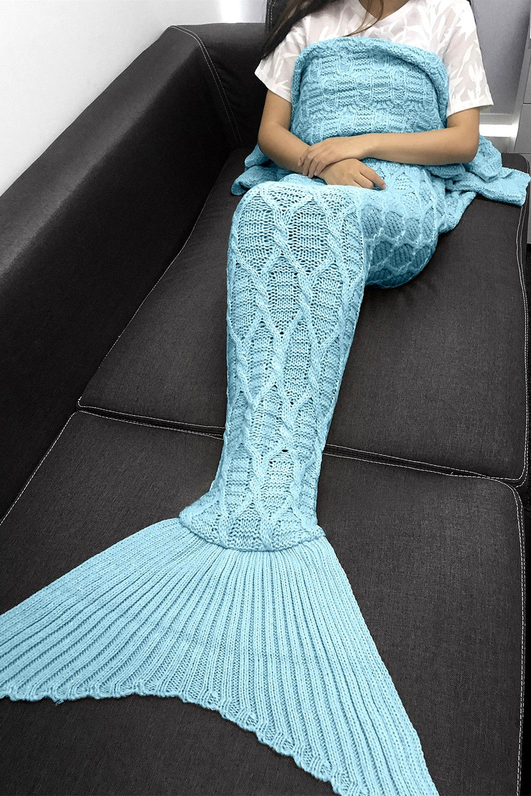 Lovely Simple Style solid Color Crochet Knitting Geometric Mermaid Blanket Knitting Pattern Of Unique 42 Models Mermaid Blanket Knitting Pattern