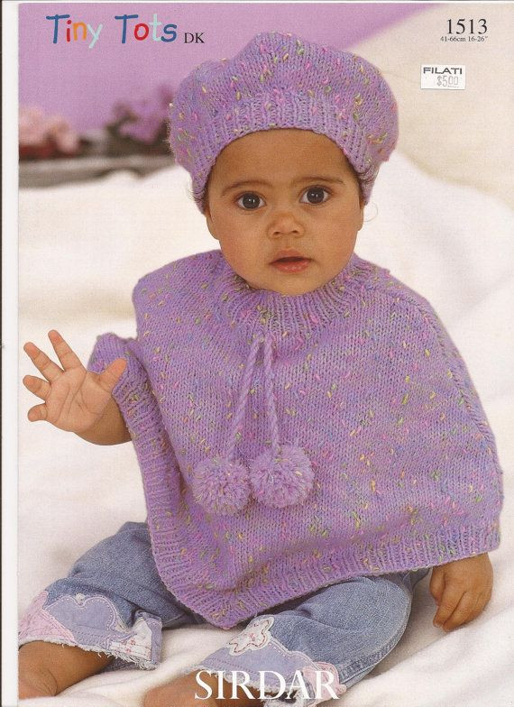 Lovely Sirdar Tiny tots Dk Knitting Pattern 1513 Poncho & Beret Baby Poncho Pattern Of Gorgeous 49 Images Baby Poncho Pattern