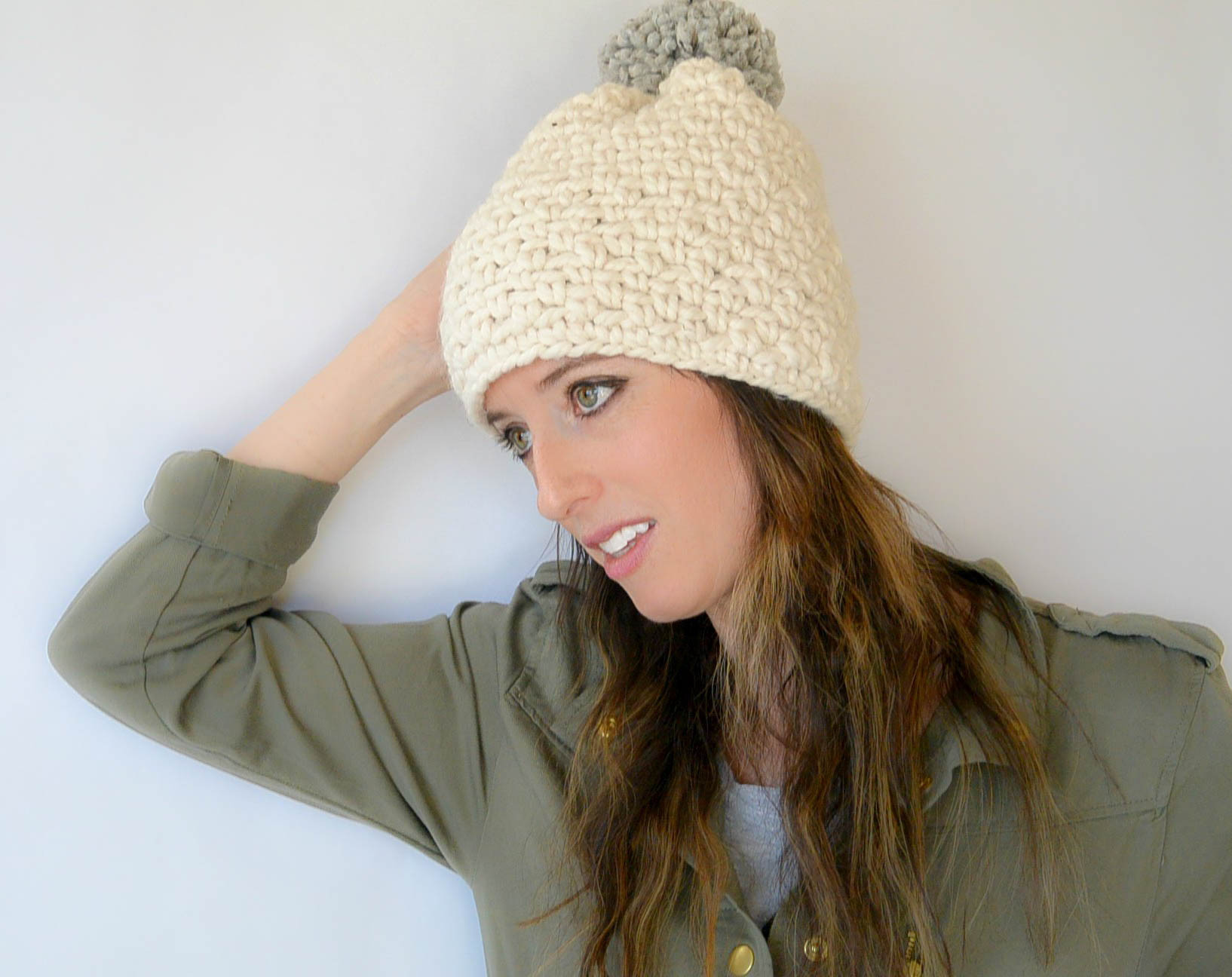 Lovely Ski Lodge Chunky Crochet Pom Hat Pattern – Mama In A Stitch Simple Crochet Hat Of Awesome 43 Images Simple Crochet Hat