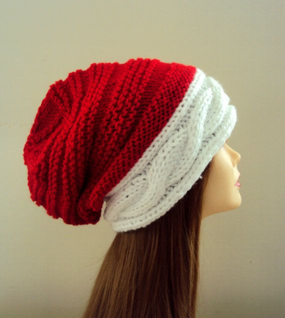 Lovely Slouchy Beanie Christmas Hat Santa Hat Knit Winter Hat Knitted Santa Hat Of Fresh 50 Photos Knitted Santa Hat