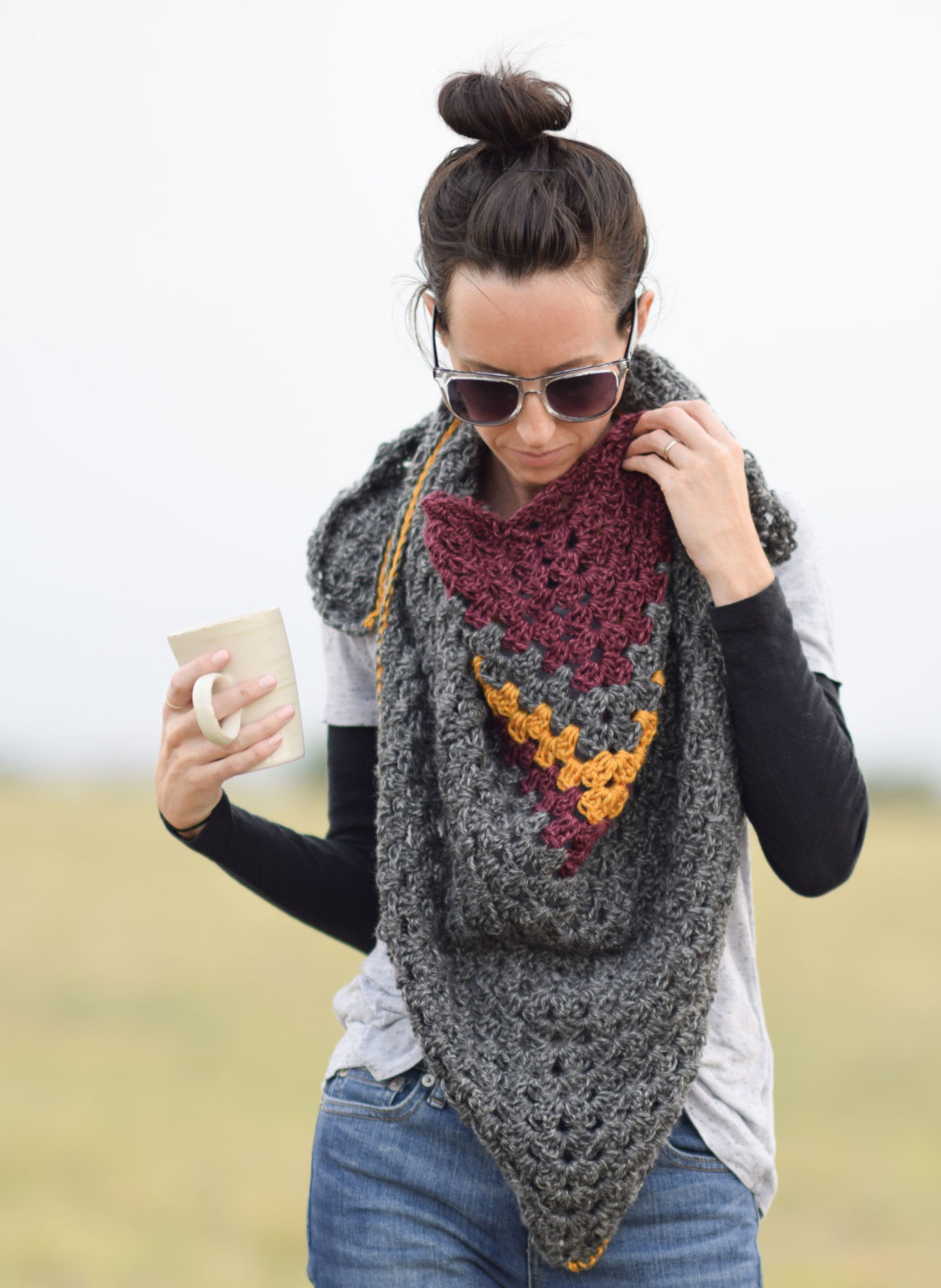 Lovely Smoky Mountains Crochet Triangle Wrap – Mama In A Stitch Crochet Triangle Scarf Of New 50 Images Crochet Triangle Scarf