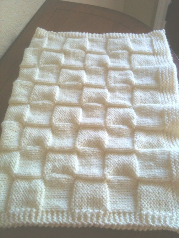Lovely soft Hand Knitted Baby Blanket by Granascorner On Etsy Hand Knitted Baby Blankets Of Gorgeous 42 Pics Hand Knitted Baby Blankets