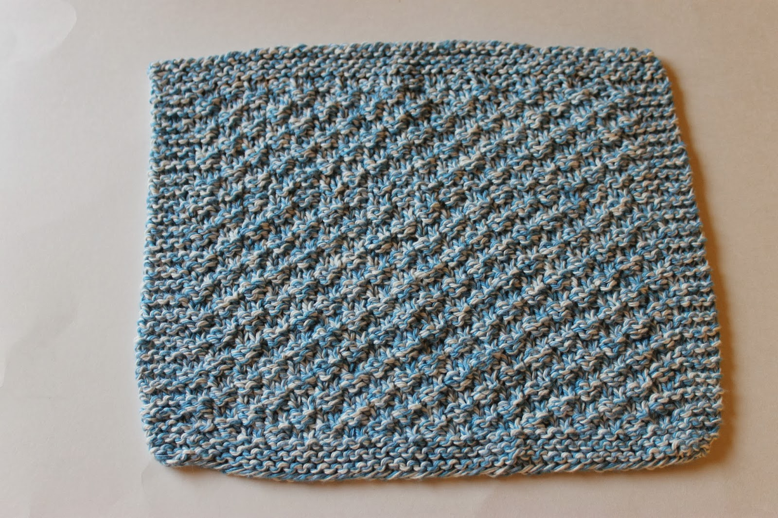 Stay Home Stitchings Double Seed Stitch Dishcloth Pattern