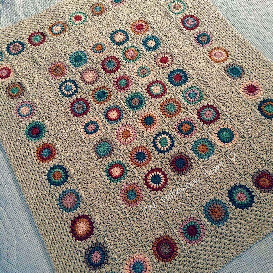 Lovely Sunburst Granny Squares Pattern by Priscilla Hewitt Afghan Squares Of Perfect 50 Ideas Afghan Squares