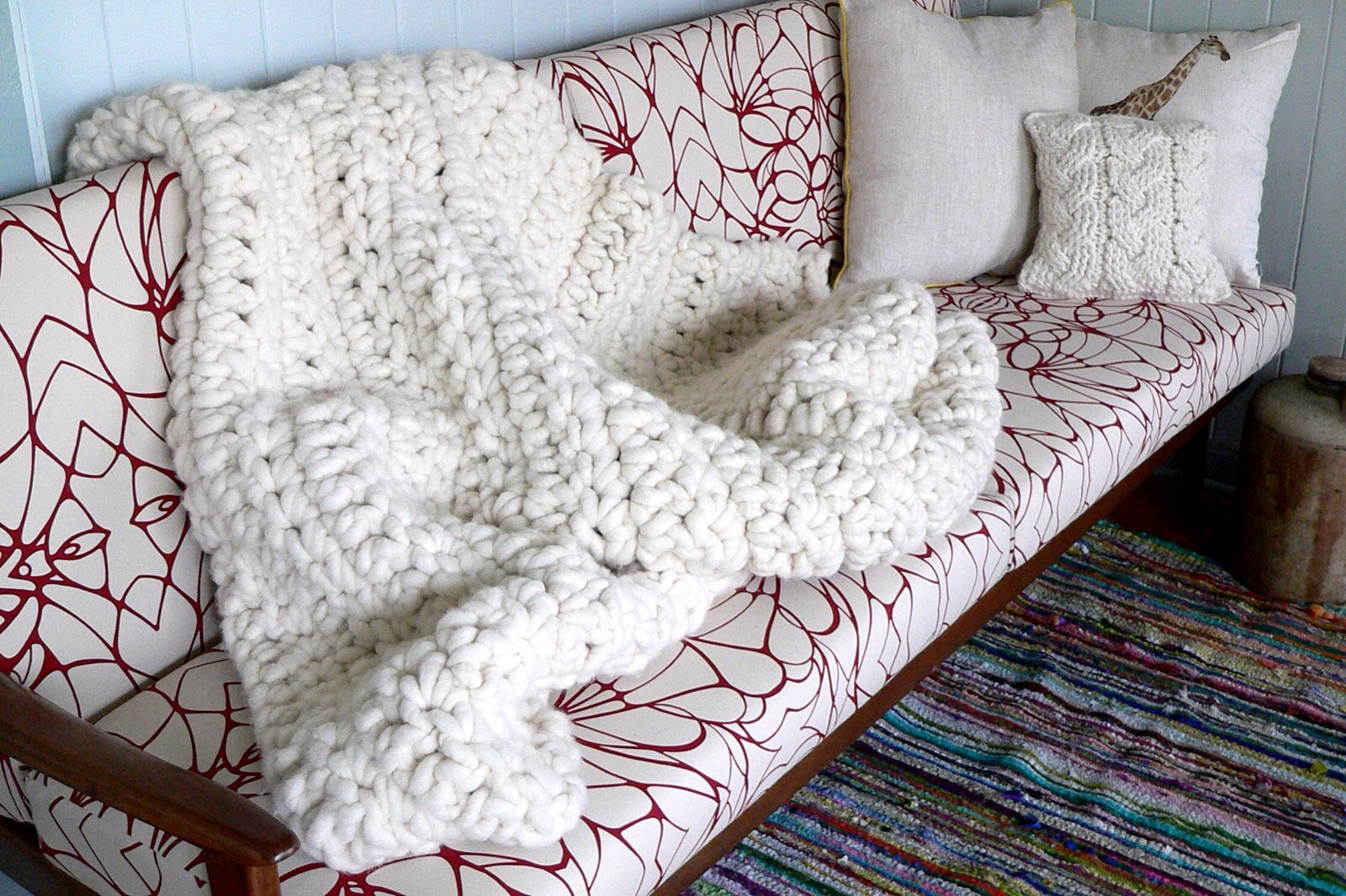 super bulky yarn knit blanket pattern