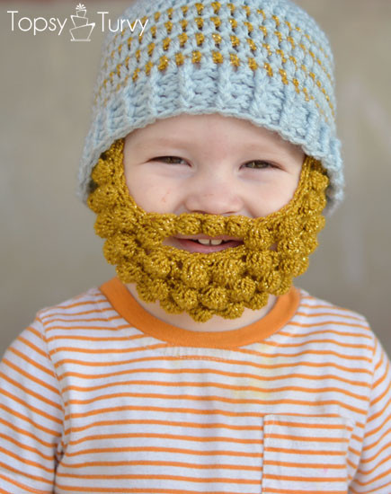 Lovely Tangled Happy Bobble Bearded Beanie Crochet Beard Hat Of Charming 44 Models Crochet Beard Hat