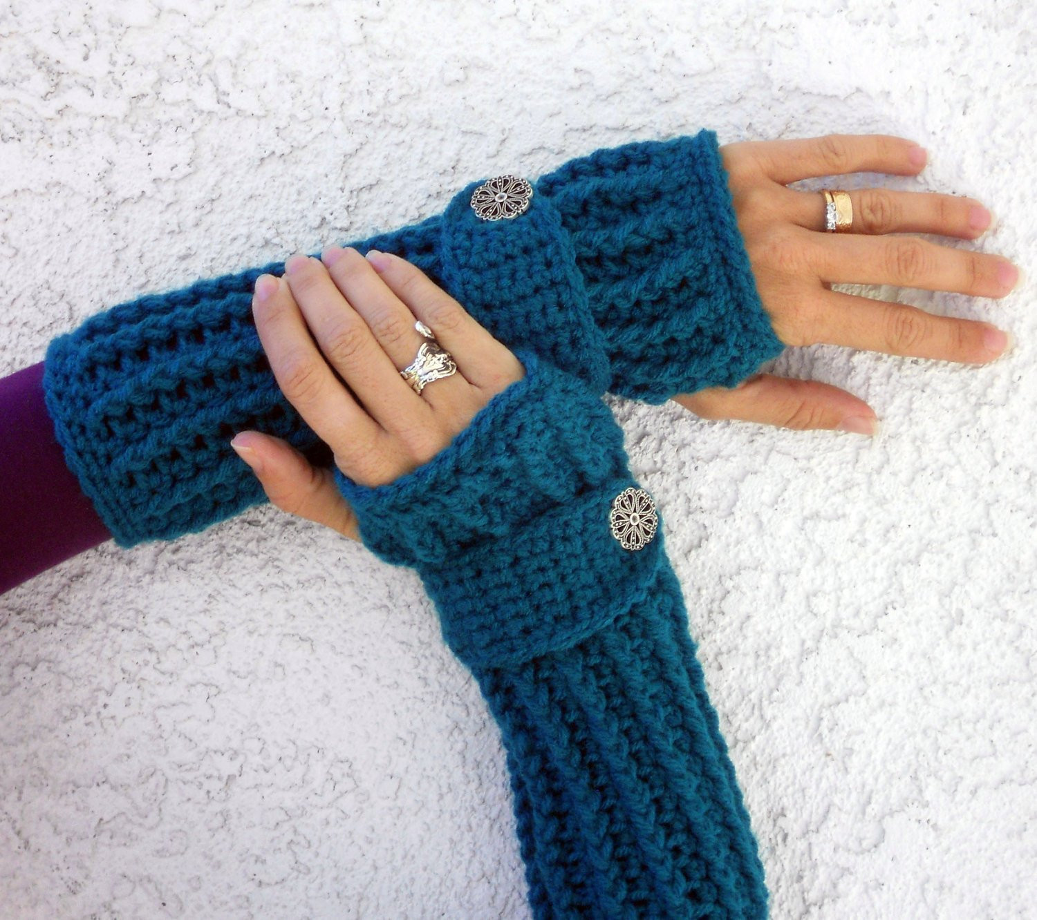 Lovely Teal Long Ribbed with Wrist Strap Crochet button Arm Warmers Crochet Arm Warmers Of Gorgeous 44 Images Crochet Arm Warmers