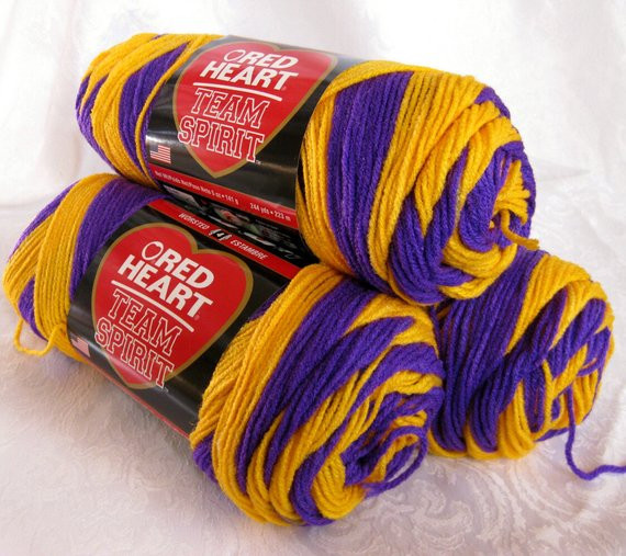 Lovely Team Spirit Yarn Self Striping Purple Gold Yarn by Crochetgal Team Colors Yarn Of Top 44 Photos Team Colors Yarn