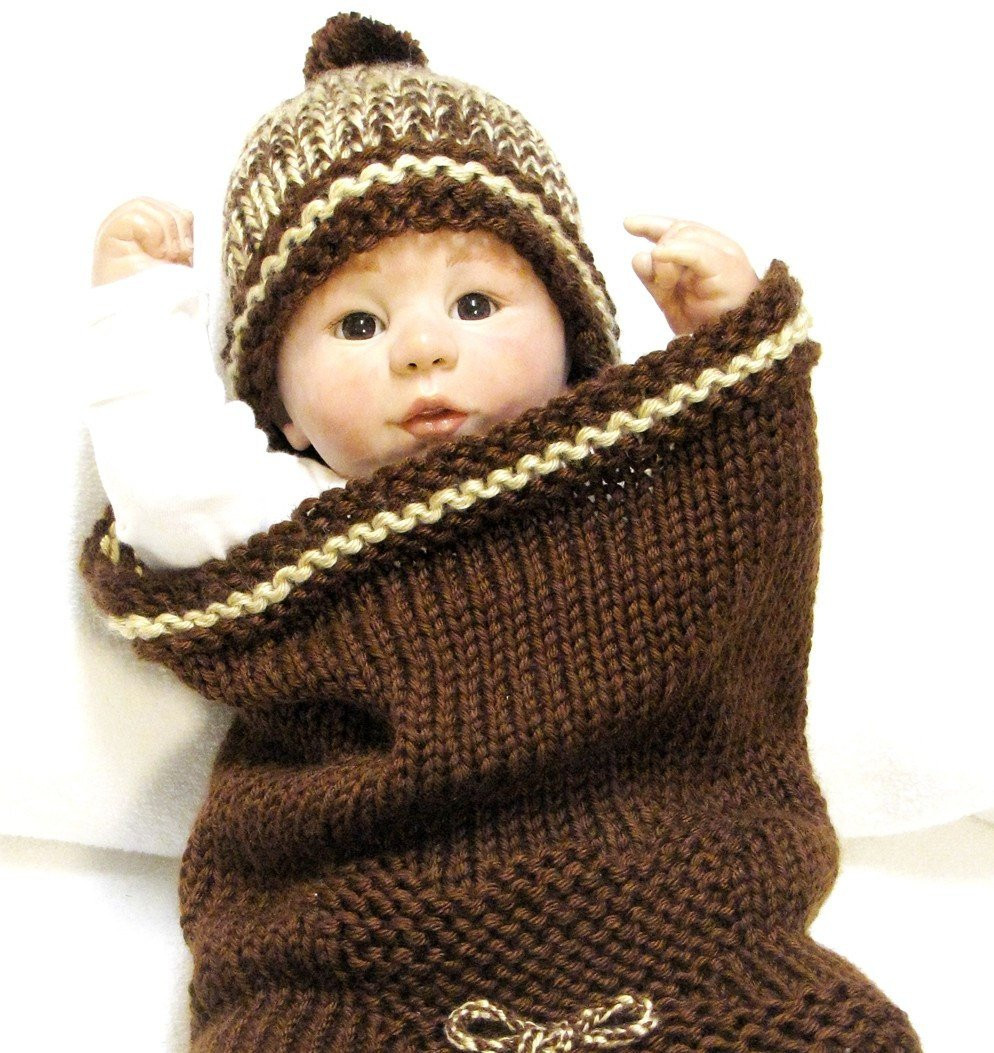 Lovely Teddy Bear Baby Cocoon Knitting Pattern & Beanie Free Pod Knitted Baby Cocoon Of Marvelous 42 Photos Knitted Baby Cocoon