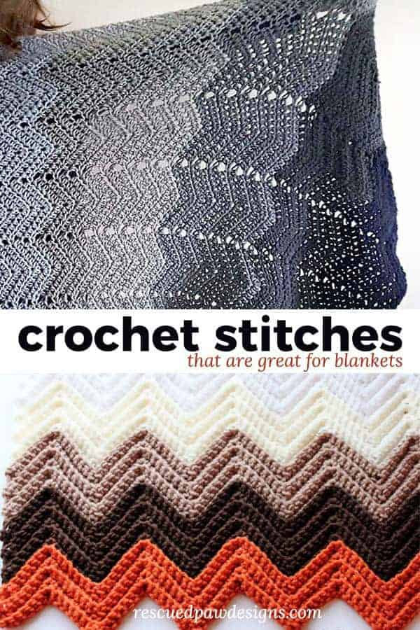 The 7 Best Crochet Stitches for Blankets ⋆ Rescued Paw