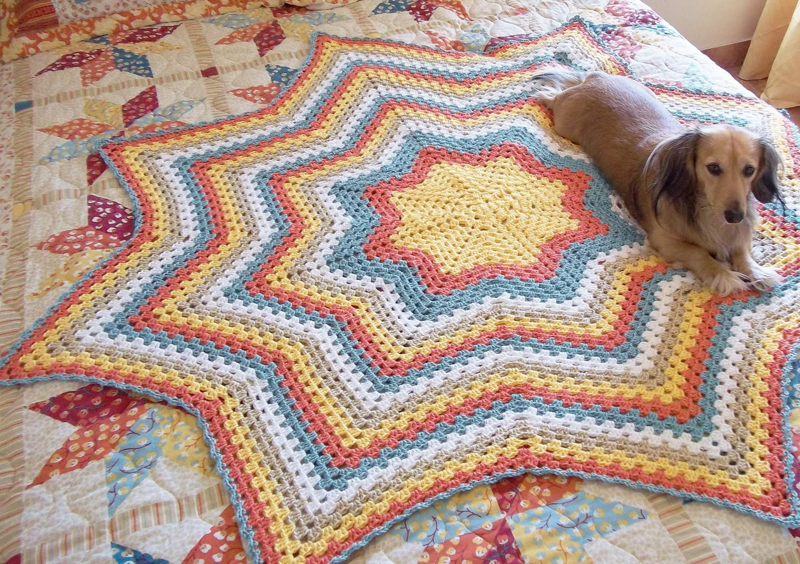 Lovely the Hook Hound Granny Star Round Ripple New Pattern Crochet Star Afghan Pattern Of New 45 Photos Crochet Star Afghan Pattern