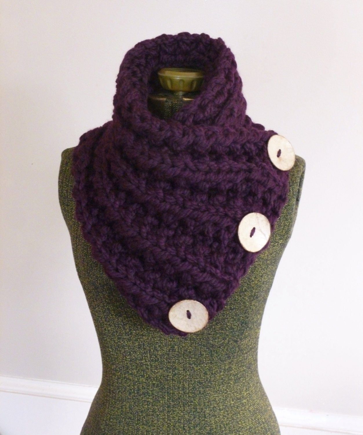 Lovely the Lancaster Scarf Chunky Hand Knit Scarf In Purple Three Chunky Knit Scarf Of Top 50 Photos Chunky Knit Scarf