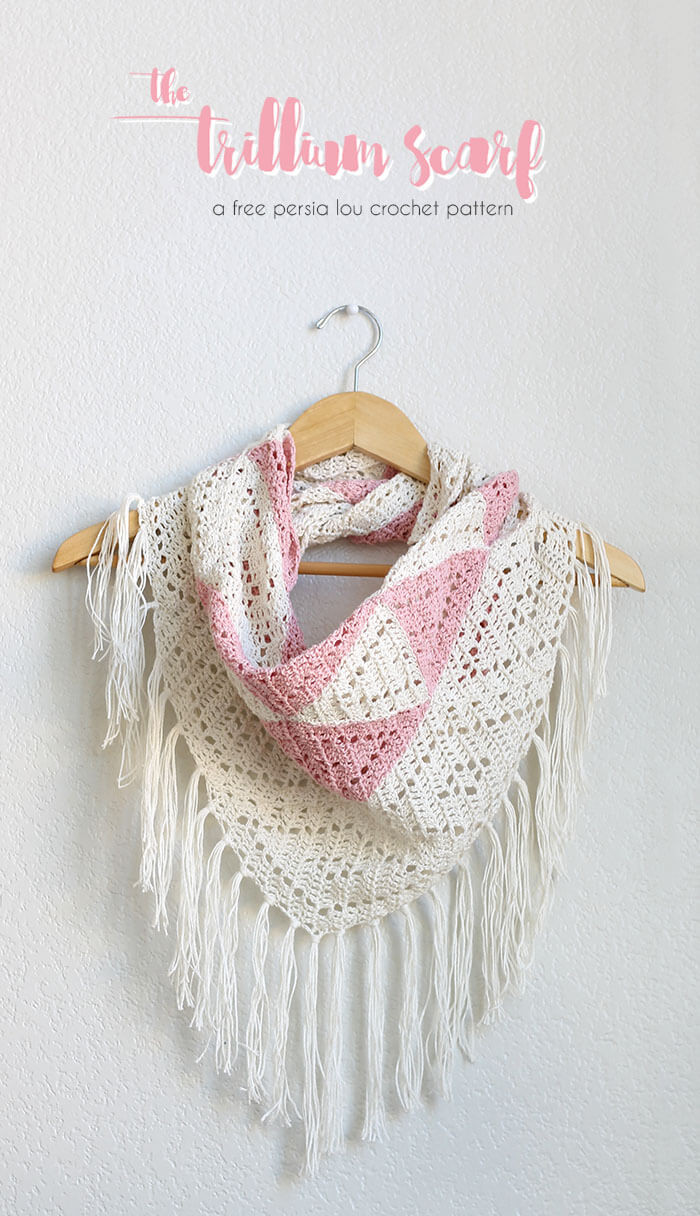 Lovely the Trillium Geometric Triangle Scarf Crochet Pattern Triangle Scarf Crochet Pattern Of Marvelous 44 Photos Triangle Scarf Crochet Pattern