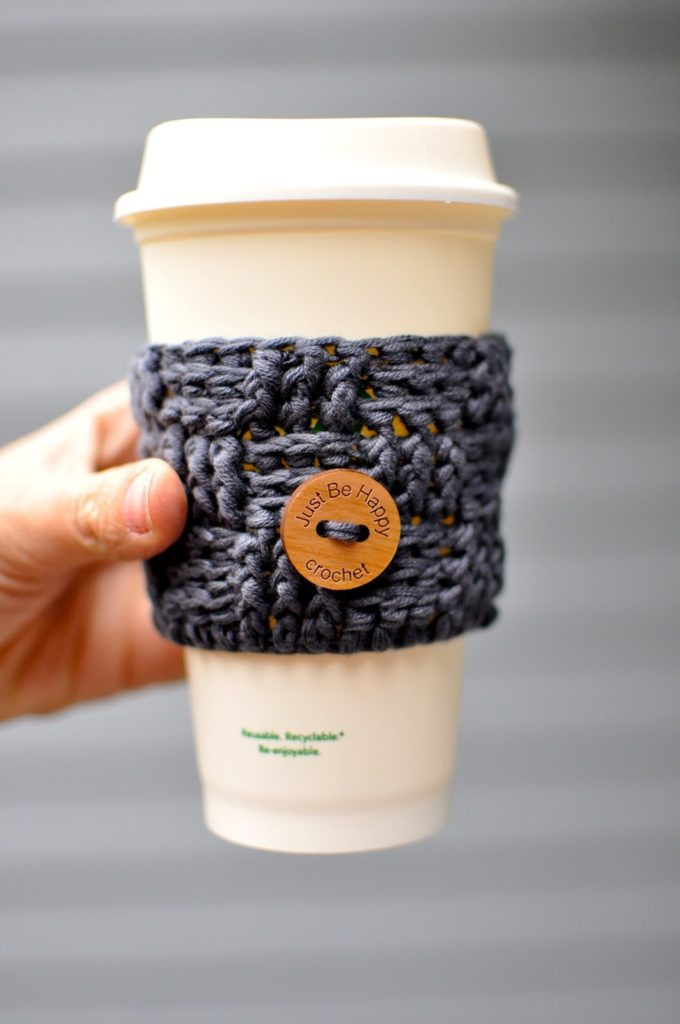 Lovely these Free Crochet Coffee Cozy Patterns Will Make Your Coffee Cup Cozy Of Awesome 47 Images Coffee Cup Cozy