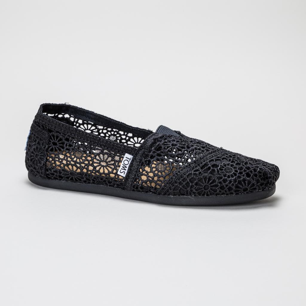Lovely toms Classic Black Moroccan Crochet Womens Shoes Black Crochet toms Of Brilliant 48 Pictures Black Crochet toms