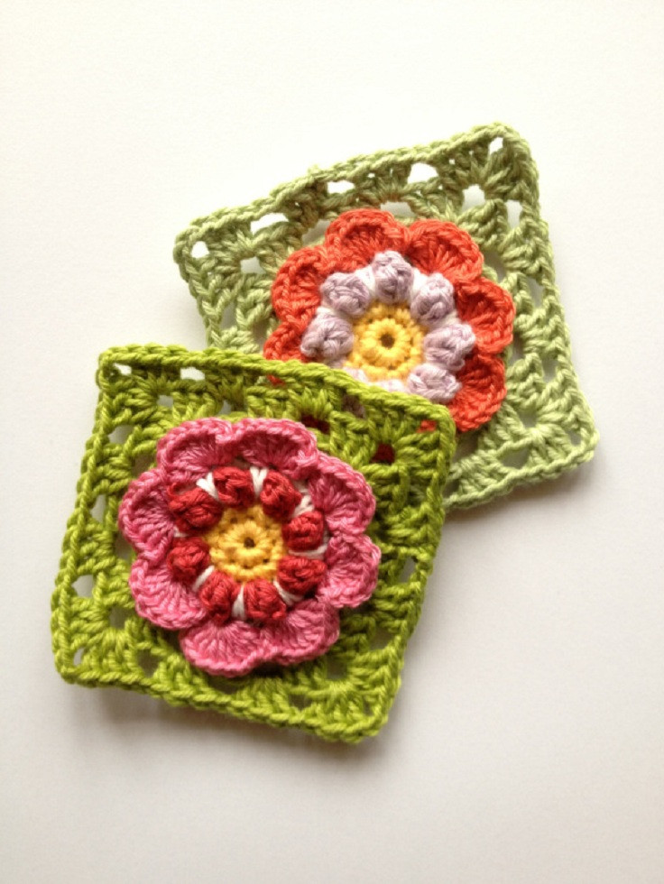 Lovely top 10 Free Crochet Granny Square Patterns top Inspired Crochet Flower Square Of Brilliant 47 Models Crochet Flower Square