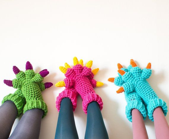 Lovely top 25 Ideas About Crochet Bed socks & Shoes On Crochet Monster Slippers Of Awesome Flamingo Slippers Crochet Monster Slippers Crochet Monster Slippers