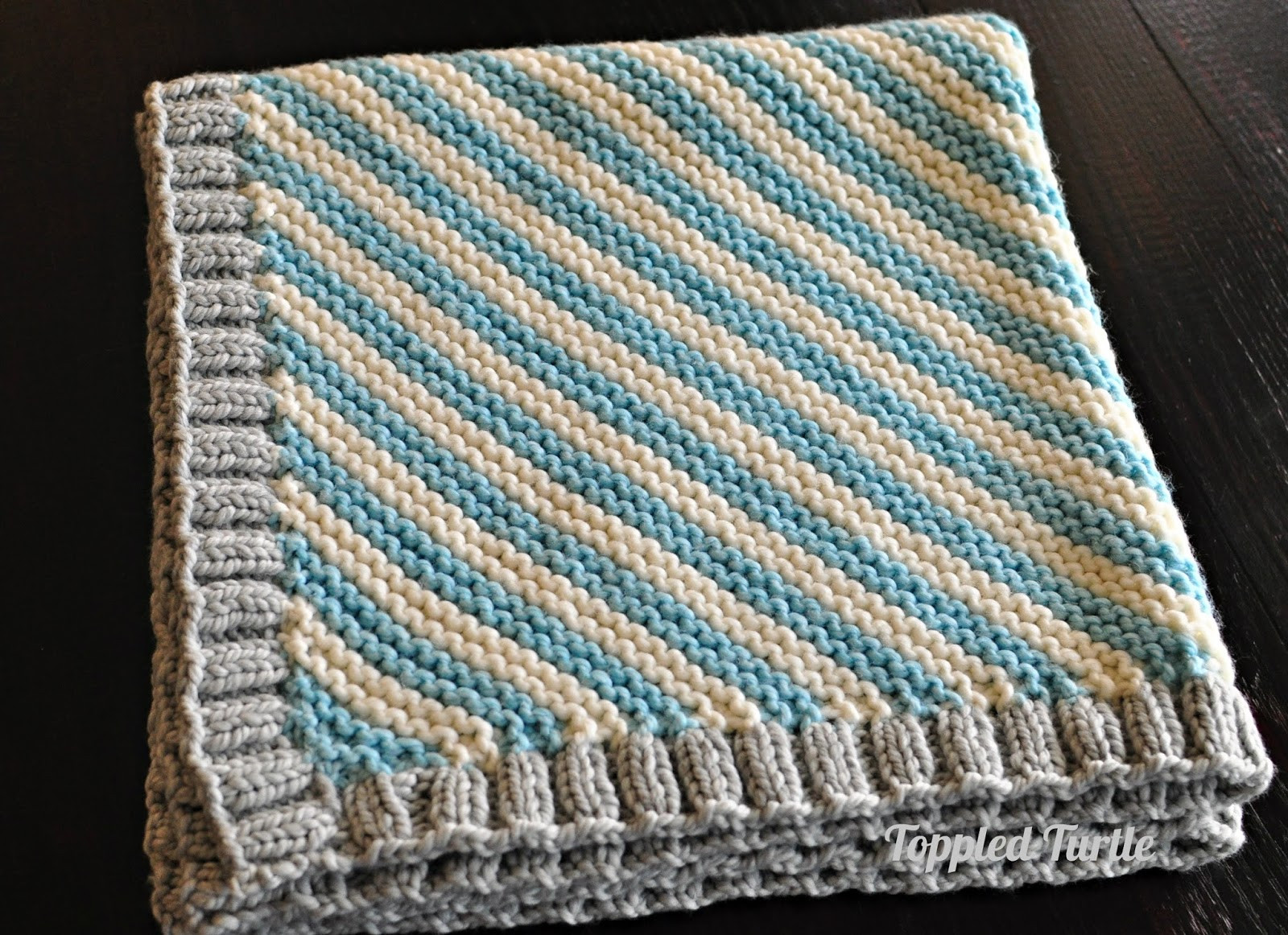 Lovely toppled Turtle Bias Striped Knit Baby Blanket Free Pattern Free Easy Baby Blanket Knitting Patterns Of New 40 Images Free Easy Baby Blanket Knitting Patterns