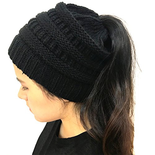 Lovely U Wardrobe Womens Ponytail Bun Beanie Hat Winter Chunky Ponytail Winter Hat Of Incredible 45 Pictures Ponytail Winter Hat