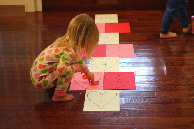 Lovely Valentines Day Games and Activities for Kids Red Heart Hopscotch Of Beautiful 36 Photos Red Heart Hopscotch