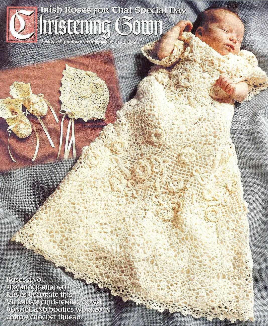 Lovely Victorian Irish Rose Christening Set Crochet Pattern Christening Dress Patterns Of Awesome 43 Ideas Christening Dress Patterns