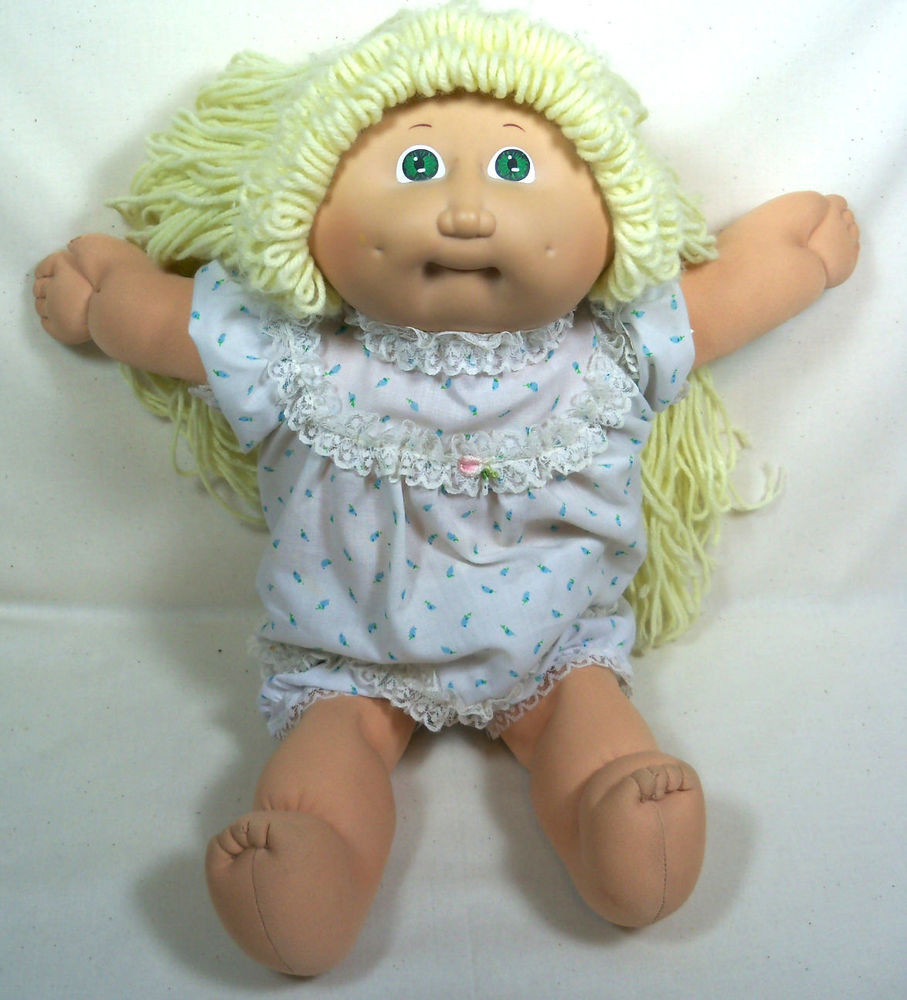 Lovely Vintage 1982 Cabbage Patch Kids Doll W Blue Eyes Blonde Collectible Cabbage Patch Dolls Of Luxury 42 Pics Collectible Cabbage Patch Dolls