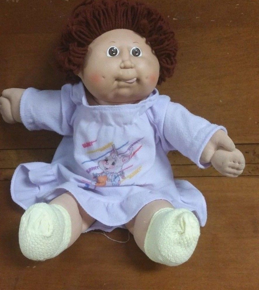 Lovely Vintage Cabbage Patch Kids Doll Girl Red Hair Brown Eyes Collectible Cabbage Patch Dolls Of Luxury 42 Pics Collectible Cabbage Patch Dolls