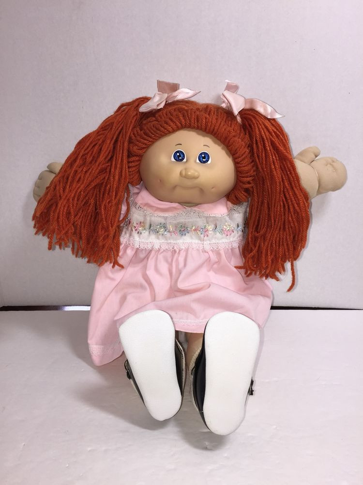 Lovely Vintage Cabbage Patch Kids Doll Red Ponytails Blue Eyes Collectible Cabbage Patch Dolls Of Luxury 42 Pics Collectible Cabbage Patch Dolls