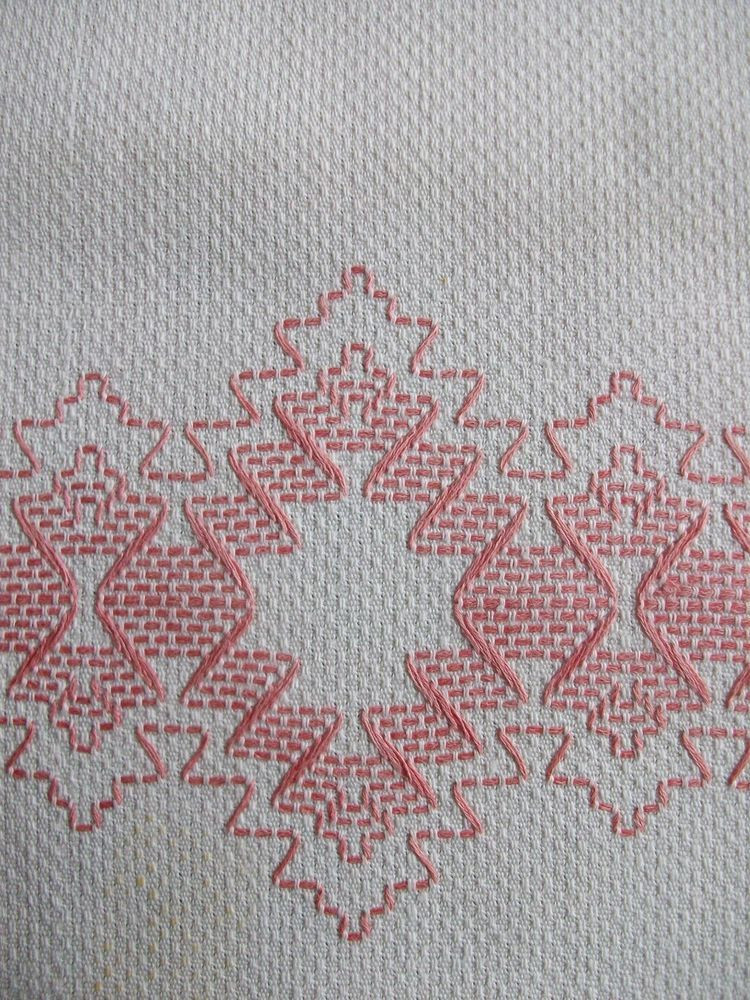 Lovely Vintage Cotton Huck towel Swedish Weaving Embroidery Weaving Stitches Of Wonderful 42 Images Weaving Stitches