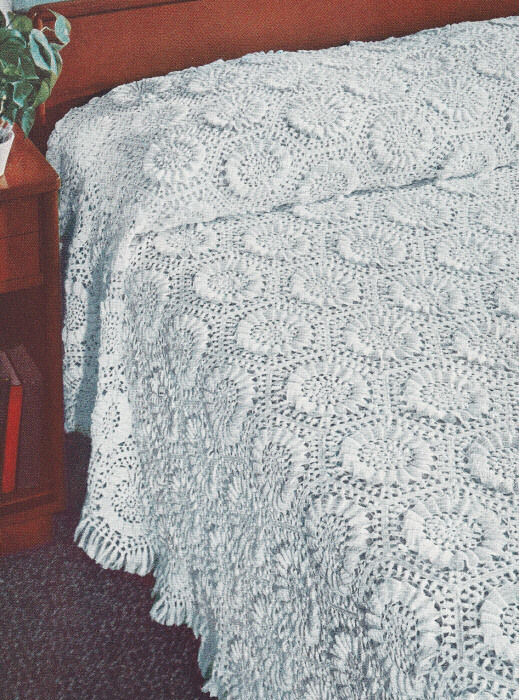 Lovely Vintage Crochet Pattern Sunflower Motif Bedspread Free Crochet Bedspread Patterns Of Unique 48 Photos Free Crochet Bedspread Patterns